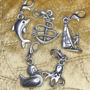 Handmade Silver Anchor Charm Bundle